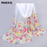 Wholesale shawl party elegant - Wholesale-new 2015 small flower print fashion scarf women elegant party chiffon shawl beautiful gift scarves and shawls echarpe