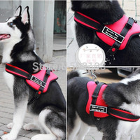 Wholesale Dog Training Husky - Wholesale-Multipurpose Sports big Dogs training Harness pets durable vest for Husky Pitbull S-XL 3colors