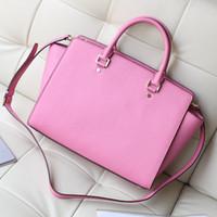 Wholesale Women Handbags Usa - USA Sema Saffiano Large Satchel Women Leather handbags Genuine Leather Luxury Famous Brand Selma Bags Women Messenger Bags