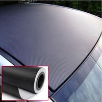 Wholesale Wholesale Vinyl Rolls - 3D Carbon Fiber Black Vinyl Film Sheet Wrap Roll Auto Car DIY Decor Sticker Free Shipping[FG15017*2]