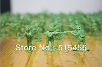 Figures De Jouets En Plastique En Vrac Pas Cher-2-3cm 1:72 Green Plastic Soldier Toy Bulk Army Men Figurines d'action