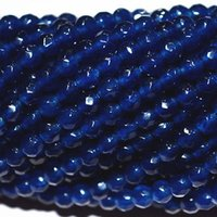 Wholesale natural blue sapphire beads - Natural 4mm Faceted DARK Blue Sapphire Abacus Gems Loose Beads 15'' AAA