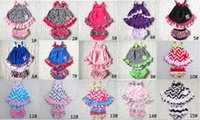Wholesale Swing Dress Bloomers Set - Cute Baby Cotton Romper Dress Bloomer Sets Chevron outfit set Swing Back Top Short Set Kids Dresses Set 3Sizes 12Pieces lot