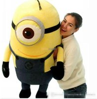 Wholesale Despicable Minion Plush Jumbo - 2016 120cm Top Selling Super Cute Jumbo Plush 3D Despicable ME Minions Toy, Nice Gift For Kids, Free Shipping