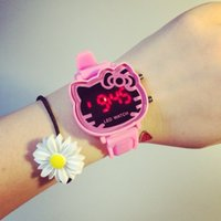 Wholesale Doraemon Watches - 3D Eye Children Kids Slap Watch Boy Girls Cartoon Wristwatch Pink Silicone Rubber Quartz Watches Christmas Doraemon Birthday Gift