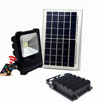 Alta qualidade 30W 50W 100W Solar Powered Panel Led Controle remoto Flood Lights outdoor floodlight Garden outdoor Street light