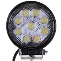 utv 4x4 para al por mayor-4 pulgadas 27W LED de luz de trabajo Offroad 12V Haz de punto de inundación para 4x4 Off Road ATV Camión Tractor Barco UTV Motocicleta LED Luces de conducción
