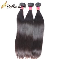 Wholesale Silky Human Hair Weave - Peruvian Virgin Human Hair Weaves Top Quality 9A Silky Straight Weaves Hair Extensions Double Weft Natural color Bellahair