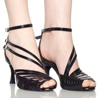 Wholesale Womens Dance Shoes High Heel - new Free shipping 2017 Fashion Black PU Womens Latin dance shoes soft outsole Ballroom dancing shoes Salsa Square dance shoes
