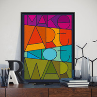 Wholesale War Poster - Modern Minimalist Peace War Vintage Retro Typography Quotes A4 Art Print Poster Abstract Wall Picture Canvas Painting Home Decor