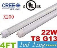Wholesale Refrigerator Tube - LED Tubes For Refrigerator Display Case 22W 4FT T8 V-Shaped Led Tube Lights Cooler Door Light Cool Warm White Transparent Cover AC 85-277V