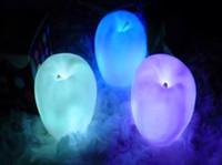 nachtlichtfarben großhandel-Partei-Weihnachtsdekorationen LED blinkender Apfel Weihnachtsabend änderte Farben-Nachtlicht Flammenlose Kerzen Kinderkinder spielt festliches Geschenk