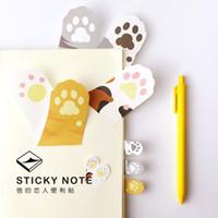 ingrosso adesivi per artigli-Commercio all'ingrosso - 6 pc / lotto Meow Kawaii gatto adesivo appiccicoso appunti adesivi stick post memo