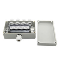 Wholesale Din Box - IP65 Waterproof Cable Wiring Junction Box 1 in 4 out 160*90*60mm with UK2.5B Din Rail Terminal Blocks