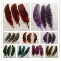 Wholesale Pheasant Wings - Free shipping 100 pcs High quality beautiful Pearl wing pheasant feathers 15-20cm 6-8inches color you choose Wedding centerpiece decor