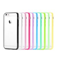 """Wholesale Case Epacket - Newest Double Colors TPU+PC Transparent Bumper Case for iPhone 6 6G Air 4.7 """" iphone 6 plus 5.5 inch via epacket 5 pcs lot free shipping"""
