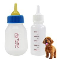 Pet Feeding Bottle Sets Food Grade Nipple Brush Nipple Needle Misurino in Silicone Riutilizzabile Cat Dog Nursing Feeder per liquidi JJ0576