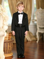 Wholesale 2016 New Arrival Boy s Formal Wear Occasion Suits Children Wedding Birthday Prom Suit Boys Tuxedos Jacket Pants Bow Shirt Girdle