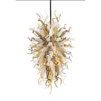 Wholesale hanging antique lamp for sale - Longree Customized Colored Blown Glass Long Chain Decorative LED Chihuly Chandelier antique indian hanging glass lamp