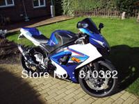 motocicletas gsxr plásticos venda por atacado-Kit de carenagem da motocicleta para SUZUKI GSXR 1000 07 08 GSX-R GSXR 1000 K7 2007 2008 CORPO de carenagem de plástico ABS BLUE BLACK SK28