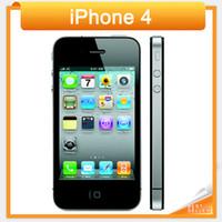 desbloqueado 16 gb venda por atacado-Original desbloqueado apple iphone 4 telefone celular 3.5 '' tela de 8 GB / 16 GB / 32 GB GPS WIFI Dual Camera Frete Grátis