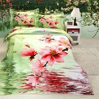 Wholesale Sunflower Queen Comforter - Wholesale-Sunflower bedding 3d bedding sets queen bed cover quilt cover luxury bedspread sets bed sheet daisy comforter cover set 2721