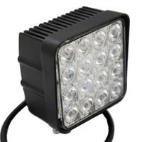 Wholesale Vehicle Spotlight Lights - 4.5 inch 48W 16 x 3W LED Headlights Offroad Driving Fog Light for SUV Vehicle 4WD 4x4 LED Spotlights 12V 24V Spot Flood