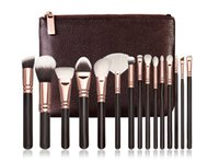 15Pcs Pennelli per trucco professionale Set Foundation Blusher Powder Eye shadow Blending Sopracciglio Makeup Brushes