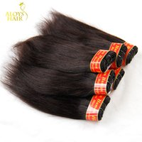 Wholesale 8inch Straight Human Hair - Brazilian Peruvian Malaysian Indian Cambodian Virgin Hair Straight Unprocessed 6A Cheap Remy Human Hair Weave Bundles Sample 1Pcs 8Inch 50g