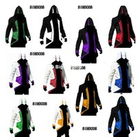 Wholesale Assassins Creed Jacket Conner - 1511 Free shipping Assassins Creed 3 III Conner Kenway Hoodie Coat Jacket Assassin's Creed Assassin's Costume Connor Cosplay Overcoat