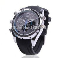 Wholesale Hid Infrared - Waterproof Full HD 1080P Infrared Night Vision Watch Camera W5000 Sports wrist watch Hidden camera 8GB mini DVR in retail box 10pcs lot