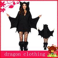 seksi şeytan cosplay toptan satış-Şeytan Bat Tema Kostüm Halloween Cosplay Oyun Üniformalar Parti Seksi Hayvanlar Siyah w / Wear Masquerade Suits
