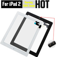 Wholesale Ipad2 Home Button - For iPad 2 3 4 Free DHL Shipping High Quality Touch Screen Digitizer Assembly Complete Replacement with Home Button & Adhesive Tape