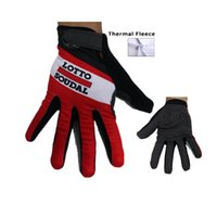 Wholesale Glove Thermal - 2015 Lotto Winter thermal fleece Cycling long gloves mtb bike riding bicycle sport accessory winter cycling gloves