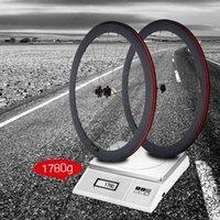 Wholesale Bike Carbon Wheel Clincher - Bike Wheel 50mm Clincher Rim+Spokes+Hub+Quick Release Lever Skewers+Brake Pad Full Carbon Matt 700C Road Bike Bicycle Wheelsets