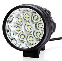 Wholesale cycling bike headlamp resale online - 18000 Lumen x XM L T6 Bike Bicycle Front Light LED Flashlight Mode Headlamp T6 Cycling Headlight Head Torch Spotlight