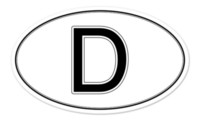 Personalized Sticker oval decals car - Car Stickers D Deutschland Germany Oval Car Window Bumper Sticker Decal