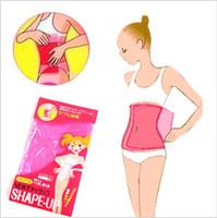Wholesale Shape Up Sauna - 200pcs Sauna Slimming Waist Tummy Belly Belt Wrap Thigh Calf Lose Weight Body Shape-Up Slim Belt Body shaper Free Shipping