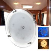 Wholesale ceiling light car - 8.5  5  3.5 inches LED Lamp 12V DC LED Circular Crystal Roof Ceiling Light Caravan RV Car Motorhome Marine