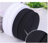 12MM White Black Colored Soft Knit Braided Elastic Webbing Band For Sewing Garment Accessories 144yards