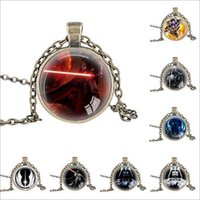 Wholesale Link Clone - 60 styles Star Wars Necklace Unisex Star Wars Jedi Knight Darth Vader Clone Alloy Necklace Pendant Necklace Christmas Gift LA163-7