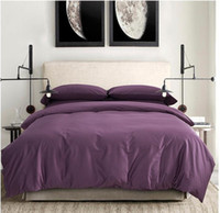 Wholesale Egyptian Cotton Bedding Sets Purple - 100% Egyptian cotton sheets dark deep purple bedding sets king queen size quilt duvet cover bedsheets bed in a bag bedspreads Luxury 2015
