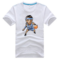 Wholesale Kobe Cartoon T Shirt - 18 kinds of basketball stars cartoon t-shirts basketball stars cartoon t-shirts of Lebron Kobe Curry Wade etc H0558c