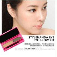 corea suda al por mayor-Corea 3CE Doble colores 3 Ensamblar Polvo marrón a prueba de agua Resistente al sudor Duradero Natural Estilo Cosmético Herramientas de maquillaje
