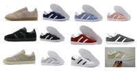 Wholesale Buttons Clear - High Quality 2017 Men Women Casual gazelle Trainer Chukka 20 Colors Lightweight Breathable Walking Hiking Smith Stan Shoes Size36-45