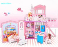 Wholesale 000410 DIY Imitating Real Living Conditions Smart Functions Lelia Doll House Multiple Living Accessories
