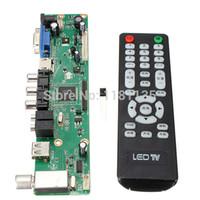 Wholesale Tv Av Controller - Universal LCD Controller Board 1920*1080 Resolution TV Motherboard VGA HDMI AV TV USB HDMI Interface Driver Board Free Shipping