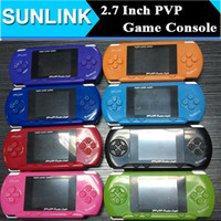Wholesale Digital Portable Tv Games - 8 Bit PVP Digital Pocket Game Console TV Out Portable Handheld Game Player 8Bit 2.7 inch TFT LCD Screen with Free Game Card