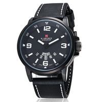 Wholesale-Luxury-Topmarke NAVIFORCE Lederband Herrenuhr relogio masculino Quarz-Uhren Uhren kaufen Direct From China NF 9028