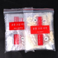 Wholesale Tips For Clear Nails - Wholesale-MN-Free Shipping (2bags Lot) New Arrial 500PCS Full Cover Acrylic False Toe Nail Art Tips Natural And Clear For You Choose